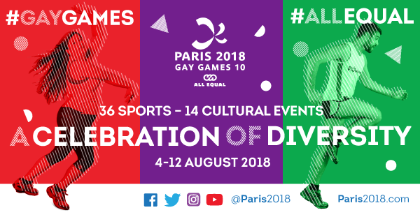 Image result for gay games paris 2018 schedule