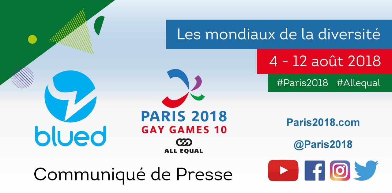 Communiqué de presse Blued - Paris 2018 FR