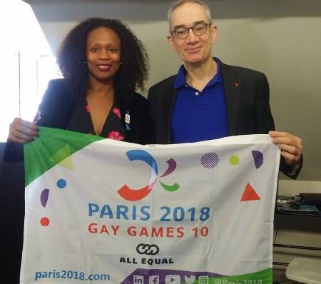 Laura Flessel & Manuel Picaud © Paris 2018